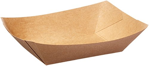 Bagcraft Papercon 300697 EcoCraft Grease Resistant Food Tray, 2-lb Capacity, 1-5/8'' Length x 6-1/2'' Width x 5'' Height, Natural (Case of 1000) by Bagcraft Papercon