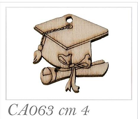 Subito disponibile 36 PEZZI Tocco Laurea in legno decorazione bomboniera df6583223f23