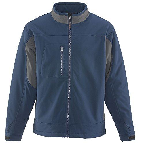 RefrigiWear Men's Windproof Water-Resistant Insulated Softshell Jacket (Blue, Medium)