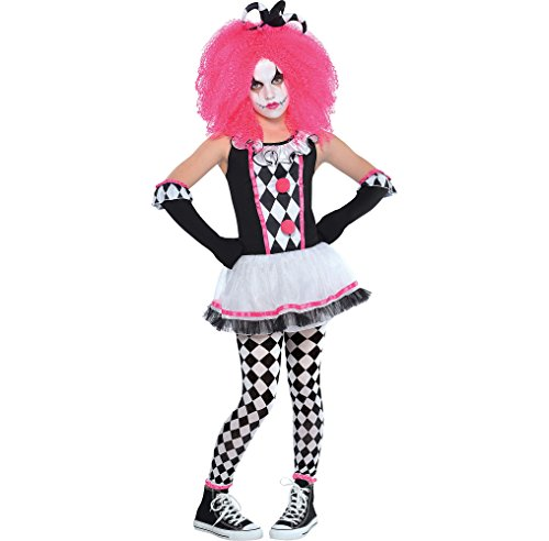 Amscan Circus Sweetie Clown Halloween Costume for Girls, Large, with Included Accessories