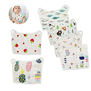 Muslin Bibs,MERLINAE Baby Bandana Drool Bibs 360 Bibs for Boys Girls Newborn Infant for Drooling and Teething,100% Organic Cotton and Super Absorbent Hypoallergenic Pullover Baby Bibs (Band bib)