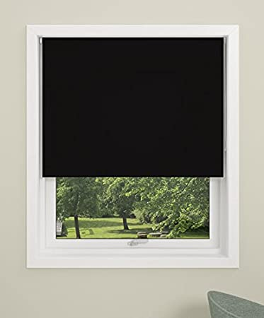 DEBEL Mini Roller Blind Fabric Uni 60 x 150 cm Black