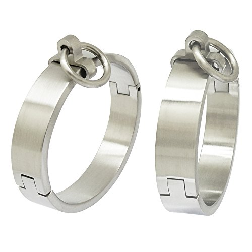 ACECHANNEL-Stainless-Steel-Wrist-Ankle-Cuffs-with-Removable-O-Ring