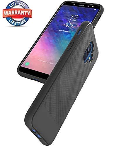Galaxy A6 2018 Case, Galaxy A6 Case, Asmart Resilient Shock Absorption  Samsung Galaxy A6 Case Slim Thin TPU Bumper Cover Flexible Protective Phone