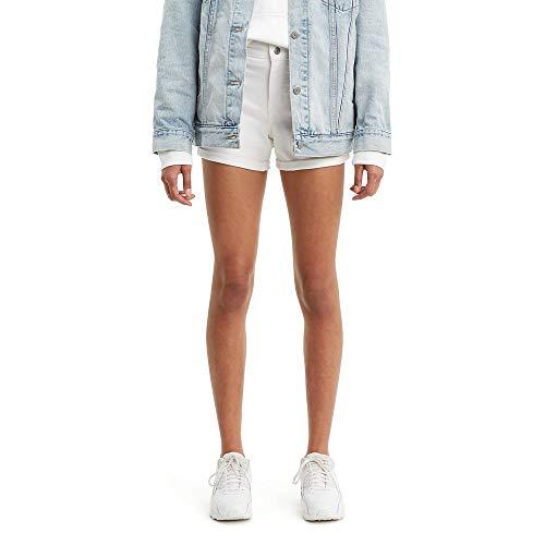 Levi's Women's Mid Length Shorts, White Ice, 28 (US 6)