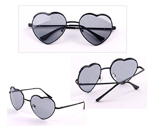 de protecciónn de LYM de 6 de 1 Protección gafas Gafas UV Mujeres sol X51 amp;Gafas en amp; moda corazón sol sol de Color forma de Gafas qRRWnOtS