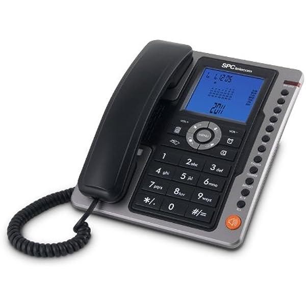 SPC Office Pro - Teléfono fijo (identificación de llamadas, gran pantalla iluminada, manos libres, 7 memorias directas), negro: Spc-Telecom: Amazon.es: Electrónica