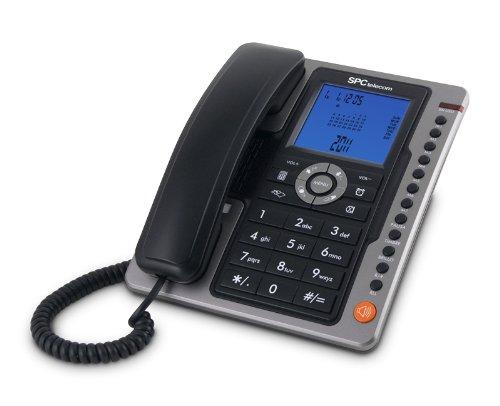 SPC Office Pro - Telefono fijo (identificacion de llamadas, gran pantalla iluminada, manos libres, 7 memorias directas), ne