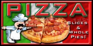 Concession graphics -36 in x 18 in - PIZZA - Weatherproof DECALS
