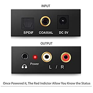 proster adaptateur de convertisseur audio r l avec c ble optique prozor dac num rique spdif. Black Bedroom Furniture Sets. Home Design Ideas