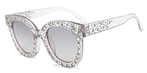mujer de se de espejo TM marca C5 de Mujer ador sol Zokra las Gafas Star de de oras sombras del Oculos UV400 gafas Crystal retras C5 gradiente del dise sol wHZxY1