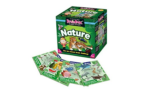 Brainbox 'NATURE' Card Game-Includes 52 cards, timer, 8-sided die and rules card! Great fun and learning for home, parties and travel!