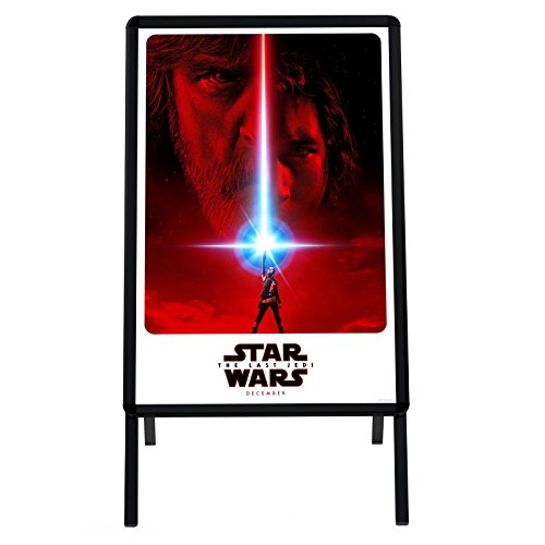 Black Sidewalk Sign A Board 24x36 Inches, Double-sided Water-Resistant Quick Change Snap Frame, 1.25' SnapeZo Profile, Professional Series