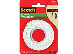 Scotch Indoor Mounting Tape, Heavy Duty 1\'\' x 50\'\' 1 ea (Pack of 4 )