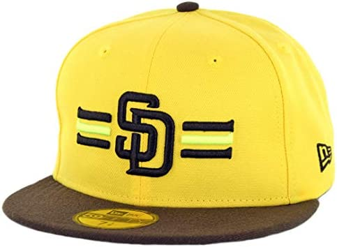 759e44fc Amazon.com : New Era 5950 San Diego Padres Players Weekend 2018 Fitted Hat ( YL/DB) MLB Cap : Sports & Outdoors