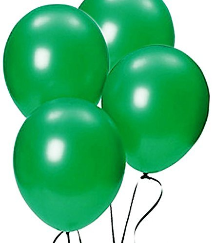 Custom, Fun & Cool {Big Large Size 12'' Inch} 1500 Bulk Pack of Helium & Air Latex Rubber Balloons w/ Modern Simple Celebration Party Special Event Decor Design [In Festive Green Green] by mySimple Products