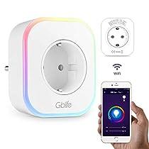 Presa Intelligente WiFi con USB, GBlife Smart Wifi Plug, Controllo Remoto/Controllo Vocale, con Interruttore e Timer, LED RGB, Compatibile con Google Home/Amazon Alexa/IFTTT/iOS/Android
