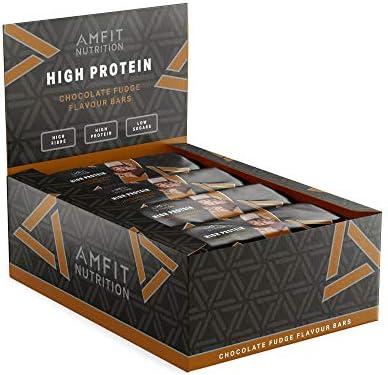 Marca Amazon- Amfit Nutrition Barra de proteína baja en azúcar (19 ...