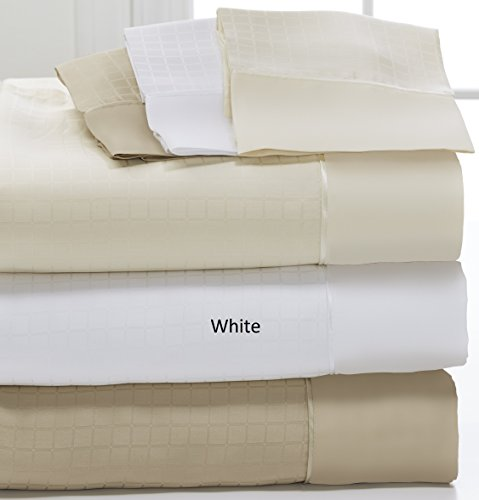 DreamFit Degree 6 MicroTencel / Supima Cotton Luxury Sheet Set (Split California King, White) by DreamFit
