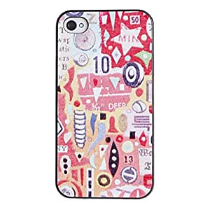 TOPMM ships in 48 hours Scrawl Pattern PC Hard Case with Black Frame for iPhone 4/4S