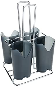 Prodyne Flatware Caddy with Black-Smoke Compartments