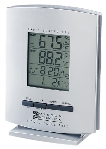 oregon scientific rmr112 cable free indoor outdoor thermometer with rh amazon co uk