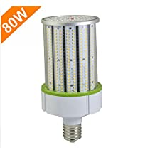 CYLED 80W LED Corn Light Bulb 5500K DayWhite 8000Lumens E39 Large Mogul Base £¬LED Street Bulb, 200W Equivalent AC100-277V 360? Light Replacement Metal Halide Bulb ,HPS,CFL