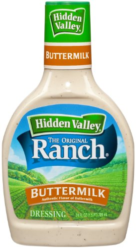 Hidden Valley Buttermilk Ranch Salad Dressing & Topping, Gluten Free - 24 Ounce Bottle
