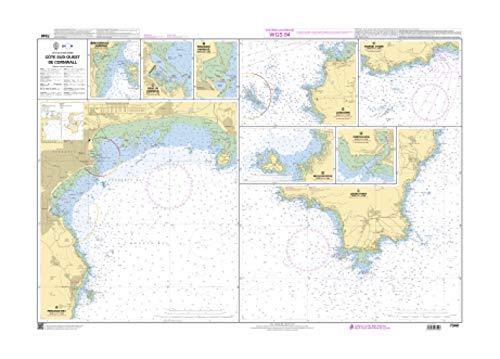 SHOM Chart 7340: Cote Sud-Ouest de Cornwall, 30 x 41 inches, Premiere Bond Paper