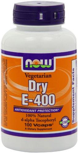 Now Foods Dry E-400, Veg-Capsules, 100-Count