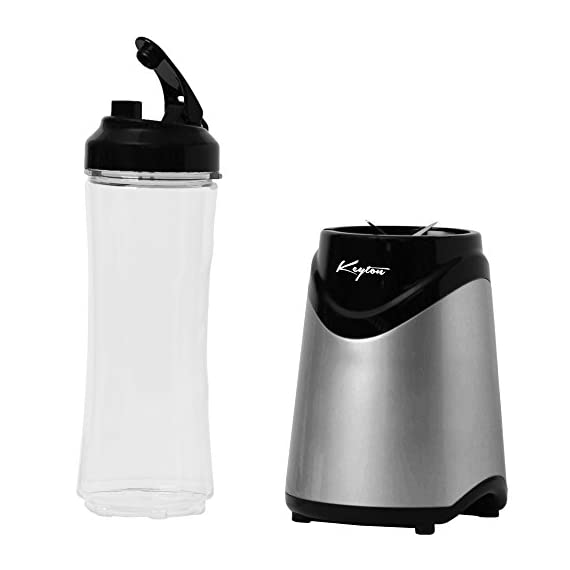 Personal Blender With Travel Lid - 21oz Portable Sports Bottle - Single Serve - by Keyton 3 SLEEK DESIGN: The modern, streamlined design of this personal, single serve blender will look great in your kitchen and complement any décor EASY TO USE: This powerful blender only requires one touch and can function completely hands free. It is dishwasher safe too for easy cleanup PORTABLE: Take your shake or smoothie to go. The sports lid makes it easy to take on the road to the office, gym or class, in the car or in your bag