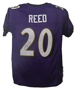 Ed Reed Autographed Baltimore Ravens Purple Size XL Jersey JSA
