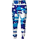 Sweatpants Vivid White Deep Blue Sea Patterns 3D Print Joggers Pants Unisex Casual Loose Comfortable Trousers