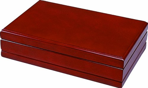Quality Importers Florence 20-30 Cigar Travel Humidor, Rich Cherry Wood