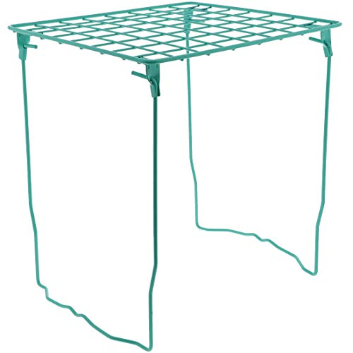 Juvale Metal Folding Organizer Shelf for School Locker or Desk, Teal (Tall Locker Shelf)