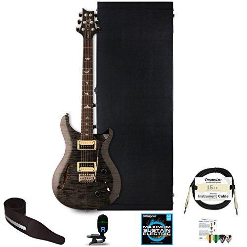 PRS 6 String Semi-Hollow-Body Electric Guitar Right Handed, Gray Black CU2SHGB-KIT-2 -