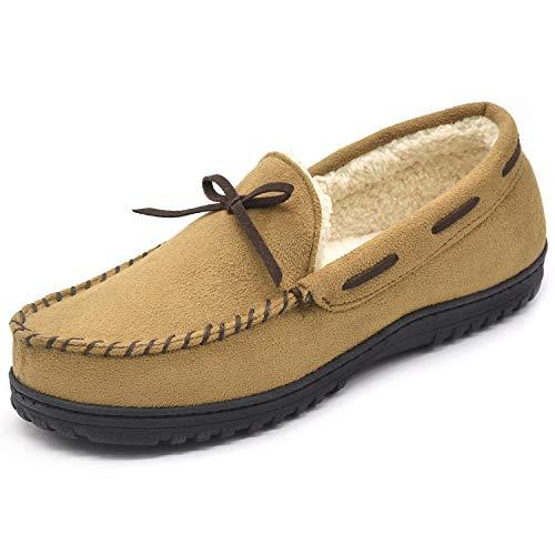 Youth Chestnut Footwear - RockDove Men's Minnesota Moccasin Slipper with Memory Foam, Chestnut