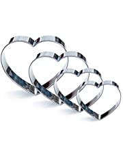 Heart Cookie Cutter Set, 4 Piece, Stainless Steel