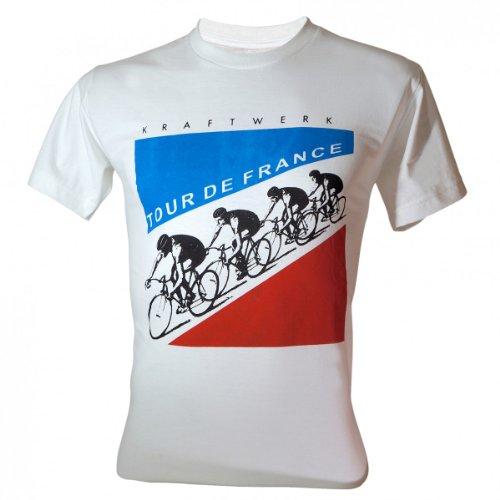 Lectro Men's Kraftwerk Electronic Band Tour de France T-Shirt White Large