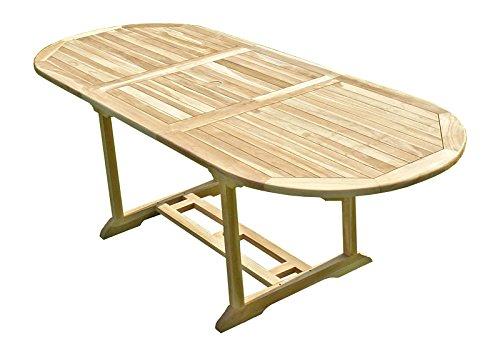 C&L Jardin MJETAMAHS Mahui Table de Jardin en Teck Beige 230 ...