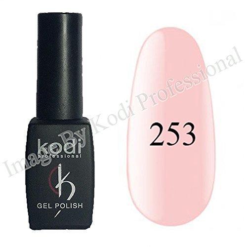 Kodi Professional color Gel LED UV Original Nail Polish Soak Off 8ml 0.28 Oz + Present Kodi Nail File (Gel Polish # 253)
