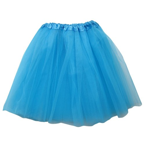 Extra Plus Size Adult Tutu XXL - Princess Costume Ballet Warrior Dash Running Skirt (Turquoise Blue)