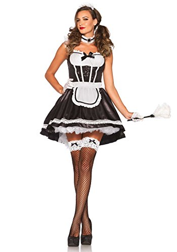 - Leg Avenue Women's Fiona Featherduster Maid Costume