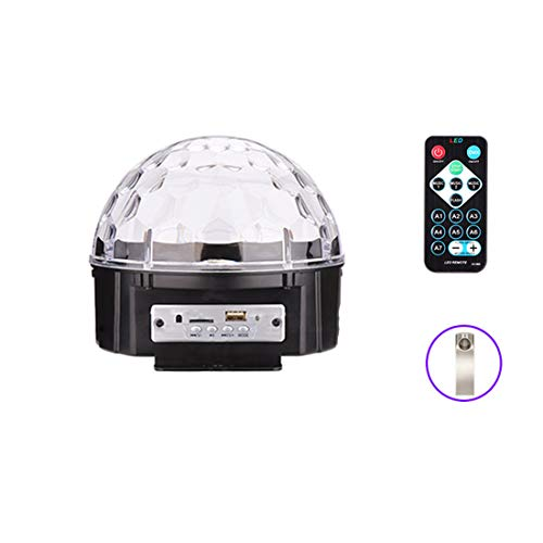 olors Dj Stage Lights with Remote Control,Support SD Card and U Disk,9W Music Ball Light,220V ()