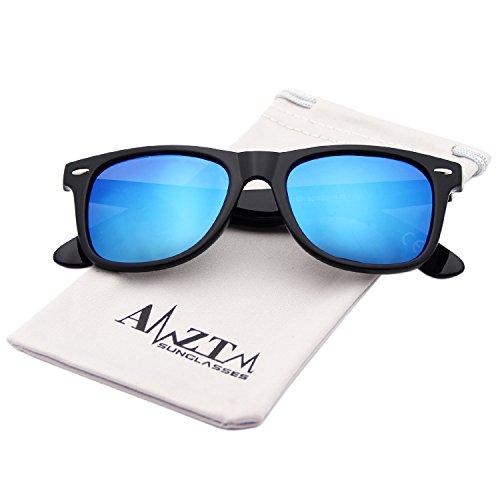Noir AMZTM Homme de Lunettes Glace soleil Bleue qvIvwf4n