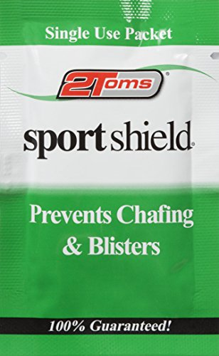 2Toms SportShield - Anti-Chafe and Blister Prevention for Your Body, Sweatproof and Waterproof, Prevent Skin Irritation from Chafing, Single Use Towelettes (6-Pack)