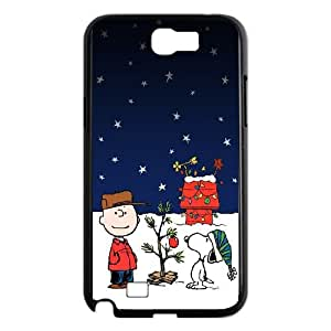 Samsung Galaxy N2 7100 Cell Phone Case Black Snoopy Christmas Holiday W8P7ZV