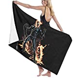 A-Norma CO Gh-ost Rider Pool Beach Towel Luxury Microfiber Bath Towels Quick-Drying Towel Blanket for Travel Swim Pool Yoga Camping Gym Sport