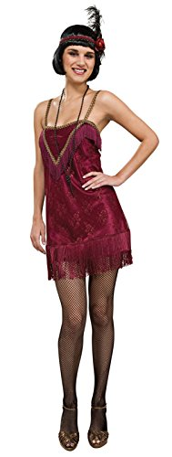 Women's Fringed Flapper Dress Red (Small (4-10)) (Great Gatsby Costumes For Men)