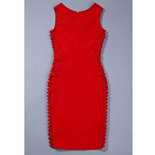 Kleid Rot 36 HLBCBG Damen rot rot 14An6Cq